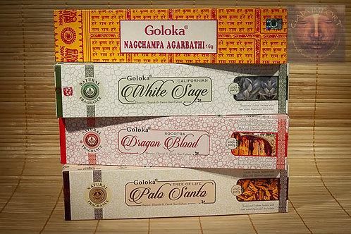 goloka palo santo sauge blanche sang du dragon nag champa