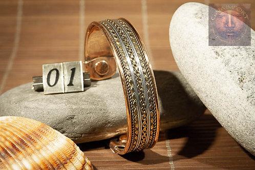 Bracelet cuivre magnétique Large Inde