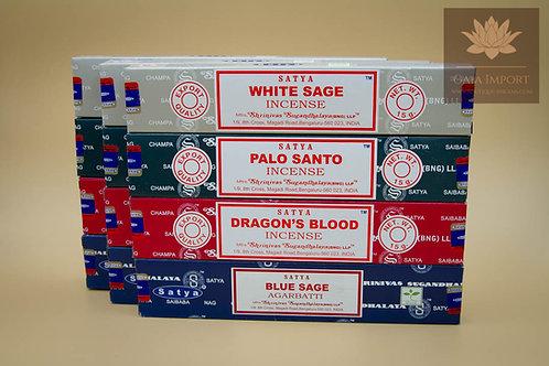 Set satya sage californien palo santo sang du dragon sauge bleu