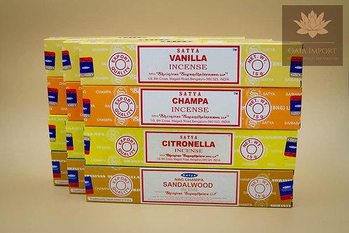 Set satya estival vanilla champa citronelle bois de santal