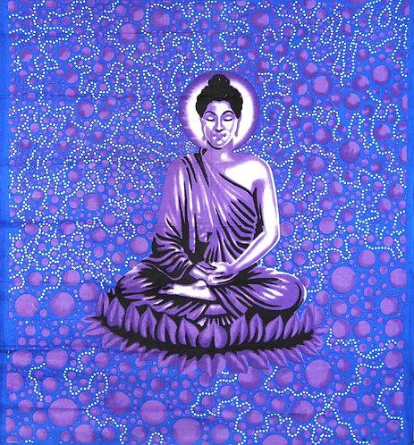 TENTURE MEDITATION DE BUDDHA VIOLETTE