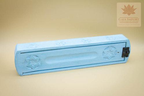 Boite Porte Encens Bleu Ciel Avec Reserve
