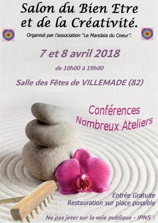 Salon Bien Etre et de la creativité Villemade 82