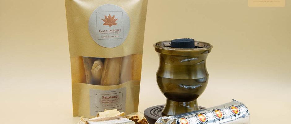Kit grand encensoir Palo santo