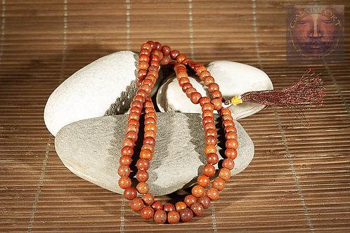 Mala jaspe rouge 108 perles