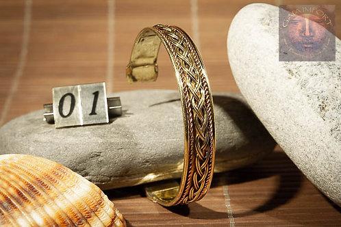 Bracelet cuivre et laiton Inde