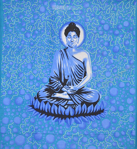 TENTURE MEDITATION DE BUDDHA TURQUOISE