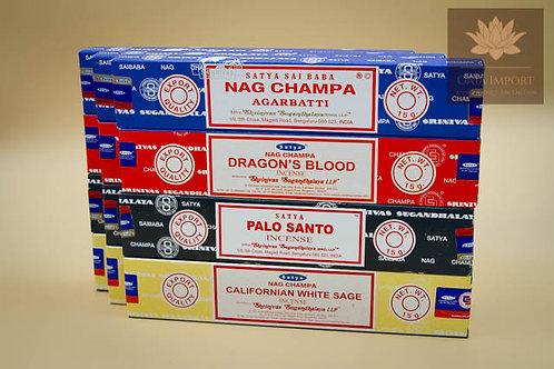 satya nag champa sang du dragon palo santo sauge blanche de californie