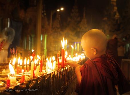 La bougie et le Bouddhisme