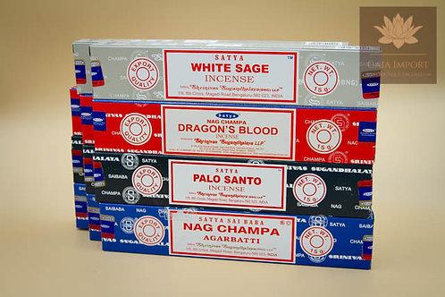 satya sauge blanche sang du dragon palo santo nag champa