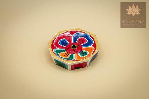 Brûle bâton d'encens lotus en bois coloré — 60 mm