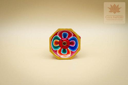Brûle bâton d'encens lotus en bois coloré - 60 mm