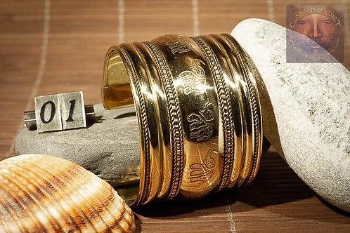 Bracelet large cuivre et doré Inde