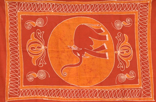 PETITE TENTURE ORANGE BATIK ELEPHANTS