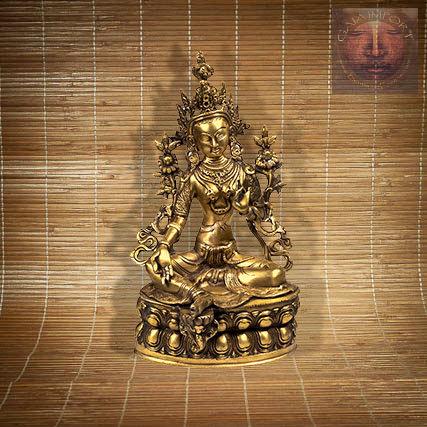 Statue Tara Verte assise