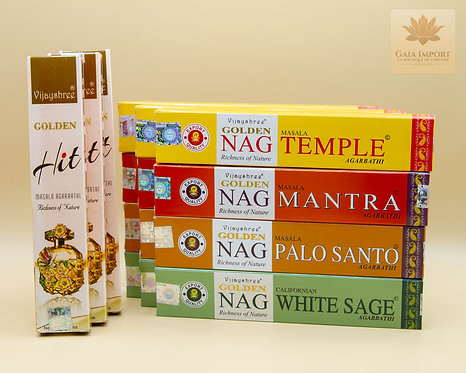Set Indien Vijayshree Golden sauge blanche palo santo mantra temple hit