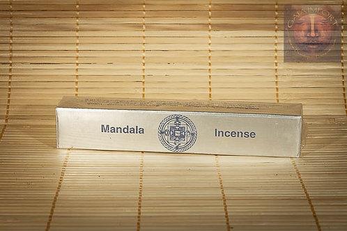Mandala Incense Argent Méditation