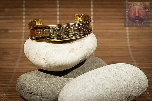 Bracelet cuivre et laiton OHM Inde