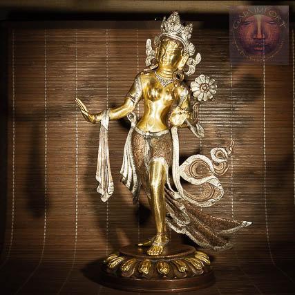 Statue Tara Verte Dansante