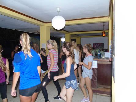 The whole hostel dances