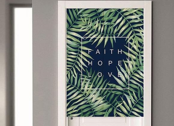 Faith Hope Love Door Curtain