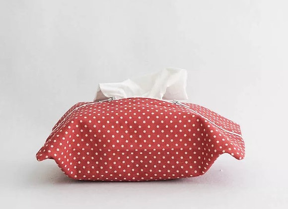 Red and White Polka Dot Tissue Cover