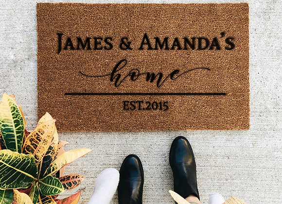 Couple's Home - Custom Coir Mat