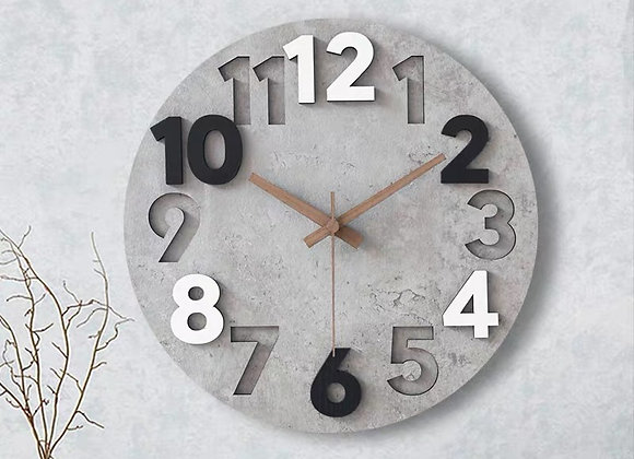 Greystone Cutout Clock