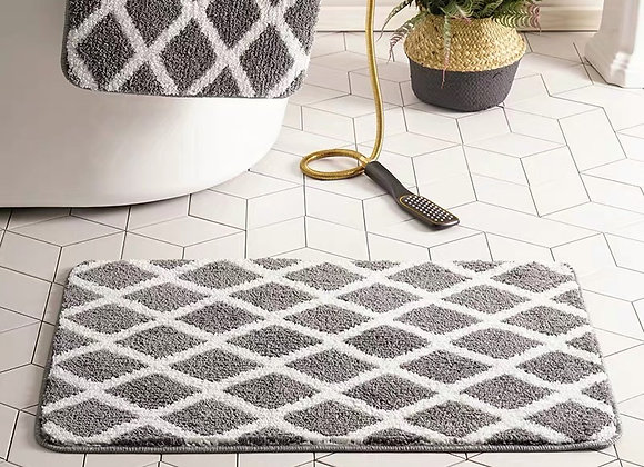 Grey Diamond Bath Mat