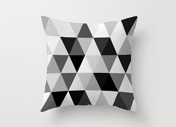 Monochrome Triangles Cushion Cover