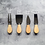 Thumbnail: Cheese Icon Personalised Mini Cheese Knife Set