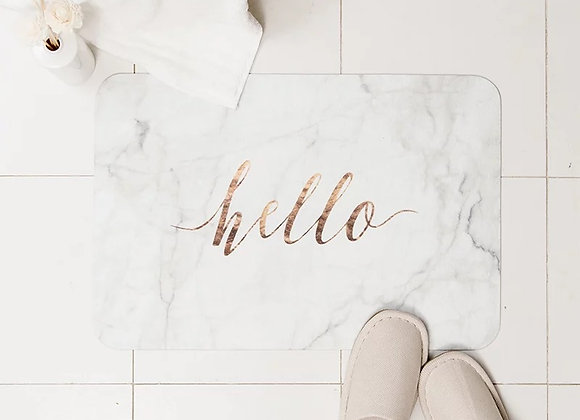 Hello Marble Thin Bath Mat