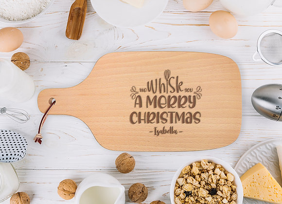 Whisk You Merry Christmas Chopping Board