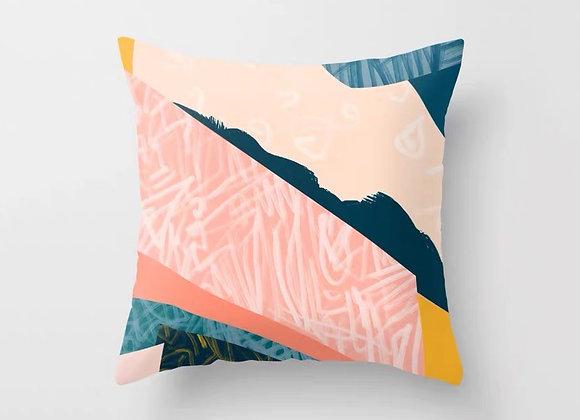 Pink Graffiti Cushion Cover