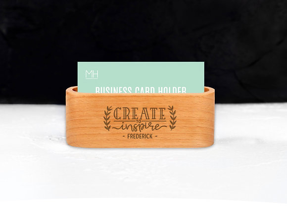 Personalised Create to Inspire Card Holder