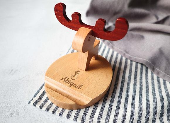 Personalised Engraved Deer Handphone Stand