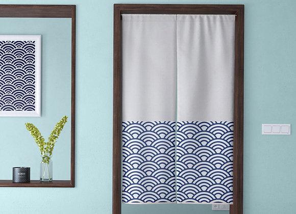 Japanese Half Scallop Door Curtain