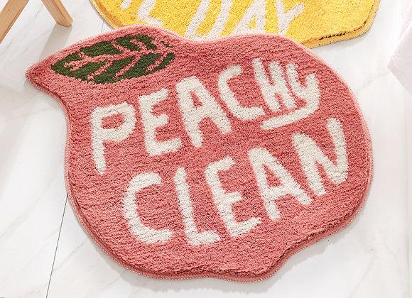 Peachy Clean Peach Bath Mat