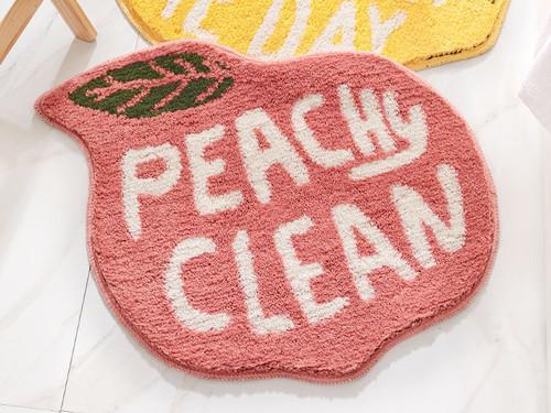 Peachy Clean Peach Bath Mat Mint Home