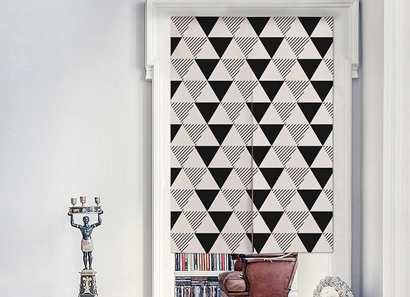 Monochrome Triangle Door Curtain