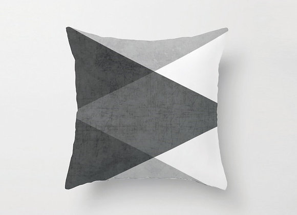 Grey and White Cushion Cover