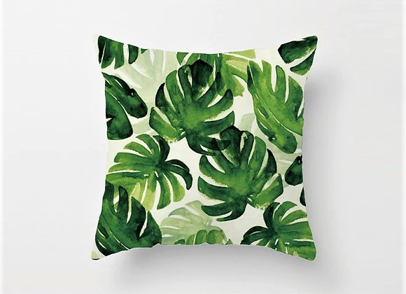 Tropical Split Leaves Cushion Cover