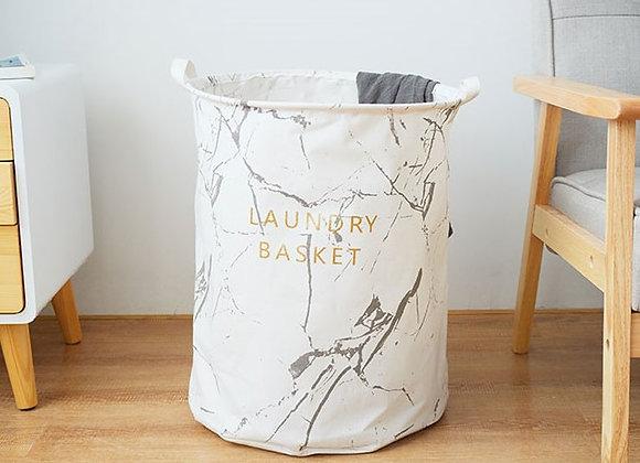 Marble Laundry Basket (White)