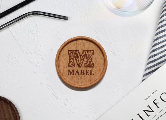 Decorative Monogram Name Coaster