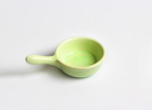 Mini Ceramic Pan Saucer - Green