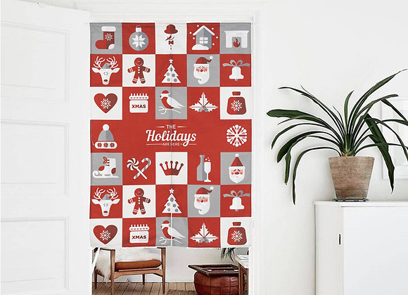 Holidays are Here Door Curtain