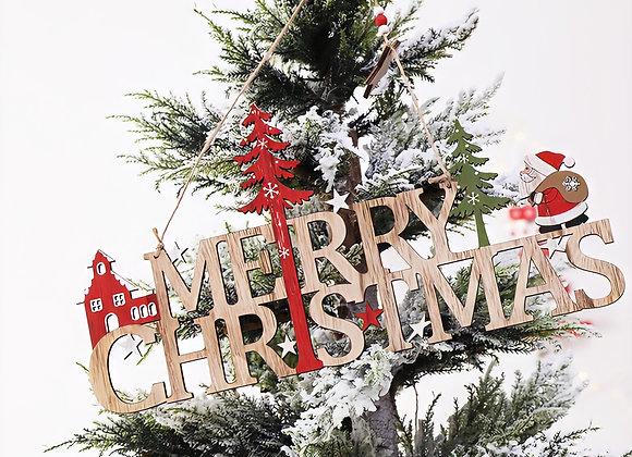 Christmas Tree Plaque Decoration