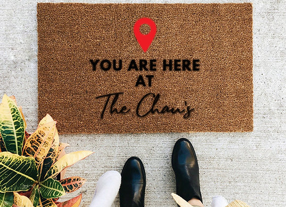 You Are Here - Custom Coir Mat