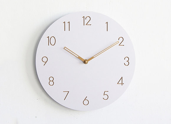 Vanilla Gold Clock