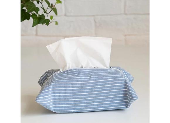 Striped Blue Tissue Cover